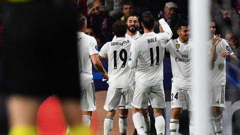 Karim Benzema netted twice on Wednesday