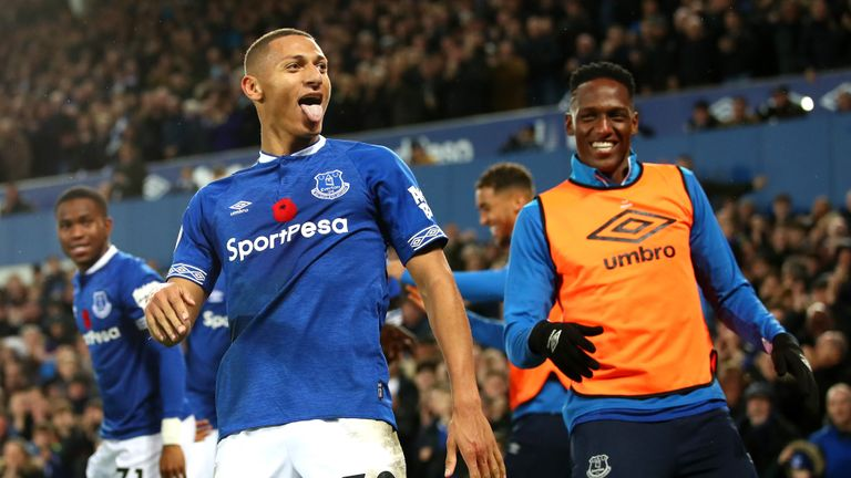Richarlison scored twice in Everton's 3-1 win over Brighton last week