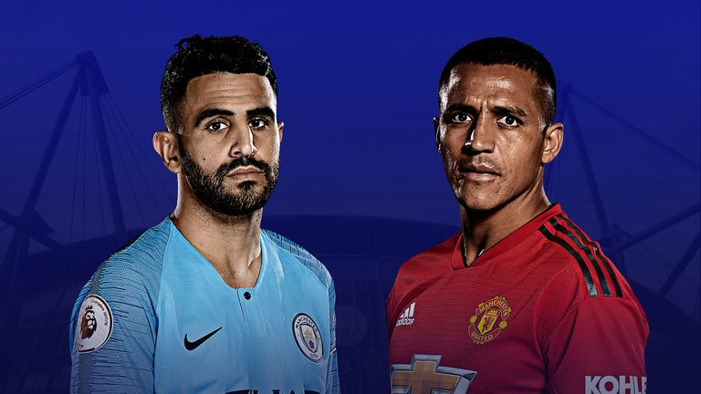 Riyad Mahrez and Alexis Sanchez face off when Manchester City host Manchester United
