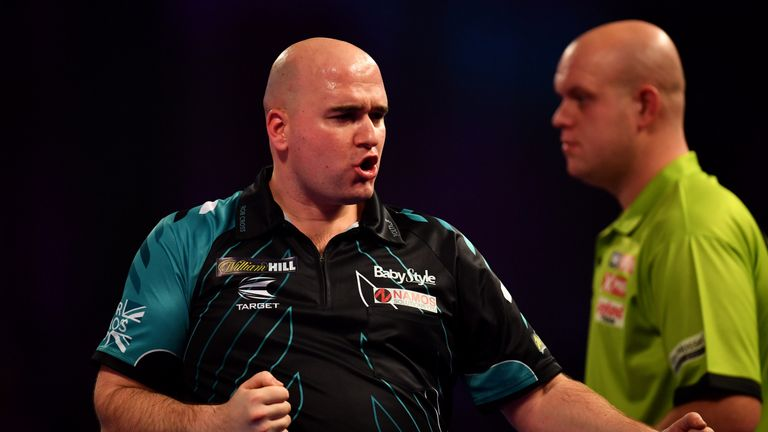 Cross dispatched Michael van Gerwen in the semi-final last year - the world No 1 is on the opposite side of the draw this year