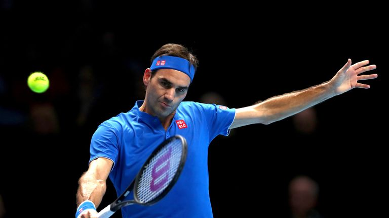 Roger Federer beat Dominic Thiem at the ATP Finals on Wednesday night