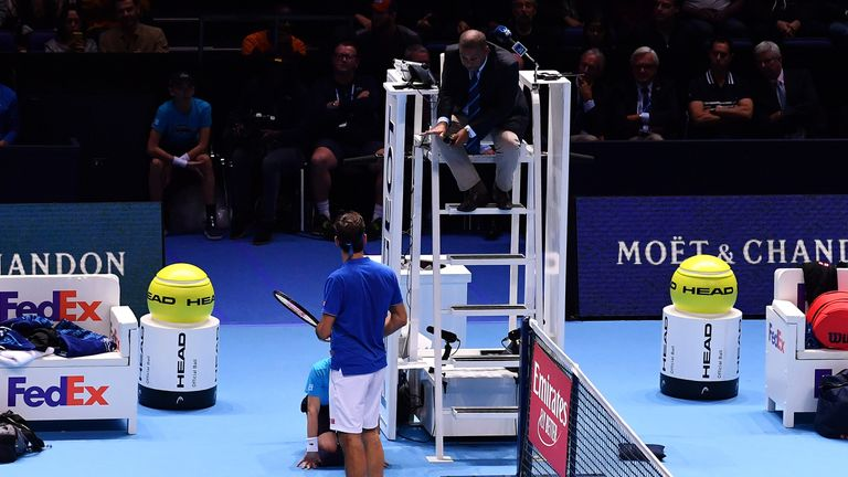 Federer asked the ball boy: 'Did you drop the ball?' He said: 'Yes, I did drop the ball.'