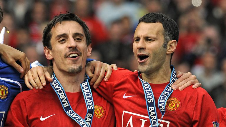 Gary Neville and Ryan Giggs enjoyed numerous Premier League triumphs with Manchester United