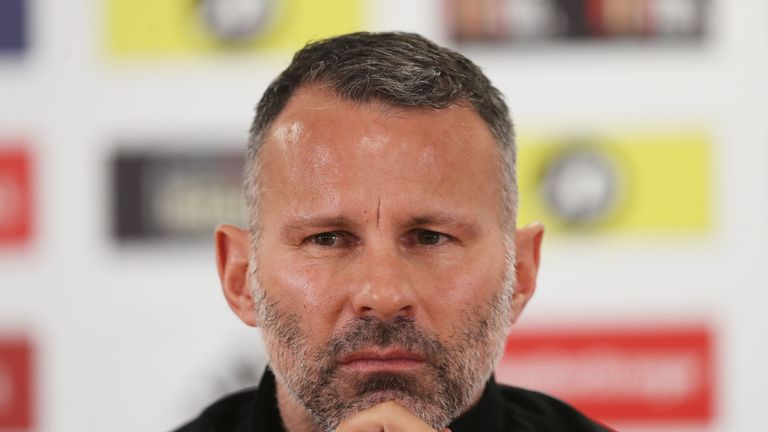 Wales manager Ryan Giggs during a press conference at The Cardiff City Stadium