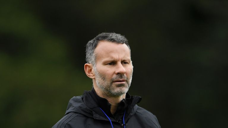 during a Wales training session at Vale Resort on October 15, 2018 in Cardiff, Wales.