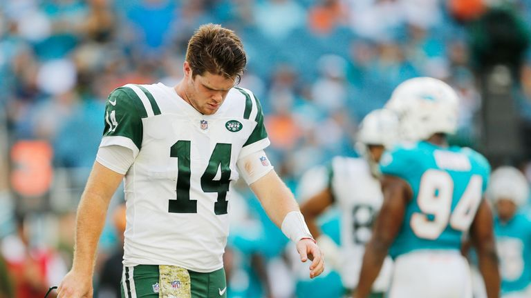 Darnold was down in the dumps during and after the Jets' loss to Miami