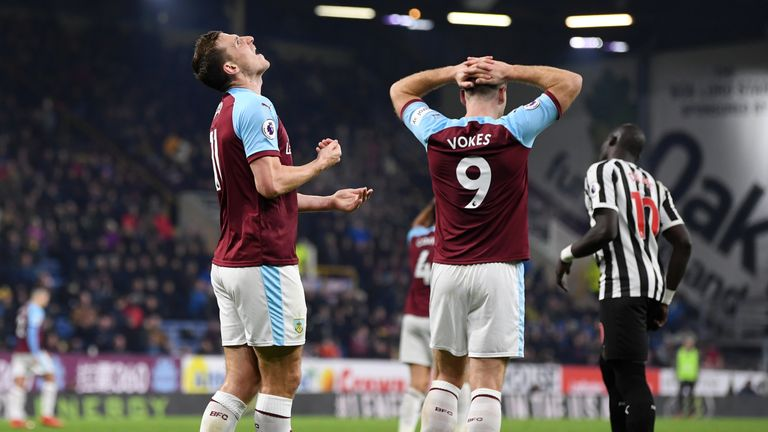 Burnley find themselves in the relegation zone after 19 Premier League games
