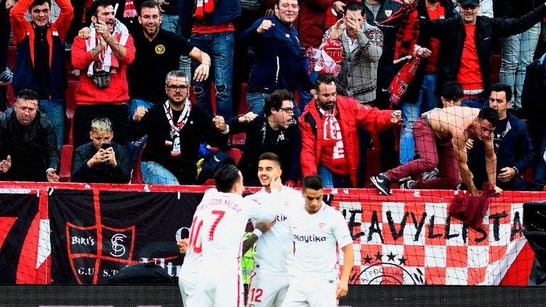 Sevilla moved to the top of LaLiga on Sunday