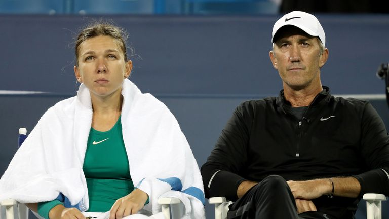Darren Cahill (R) was forced to quit her team due to 'family reasons'