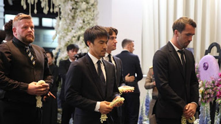 Shinji Okazaki and Christian Fuchs were also among the players to attend the ceremony