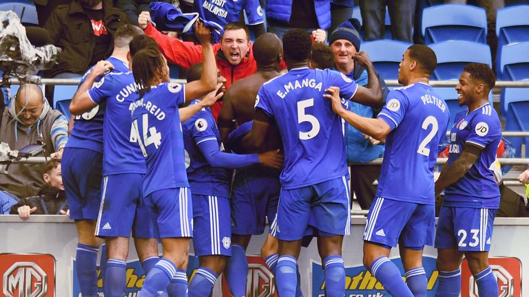 Sol Bamba scores a 90th-minute winner for Cardiff vs Brighton