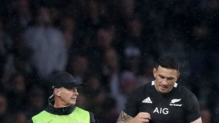 Sonny Bill Williams failed to impact the fixture before leaving injured