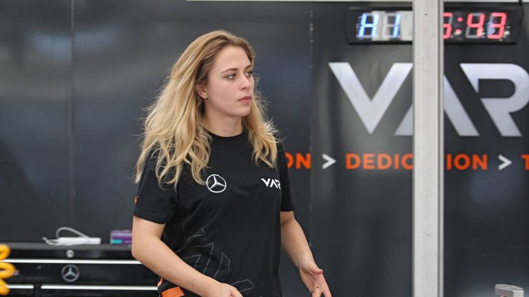Sophia Florsch has vowed to return to motor racing after successful surgery on her fractured spine