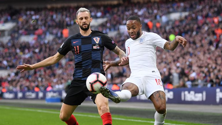 Raheem Sterling in action against Croatia