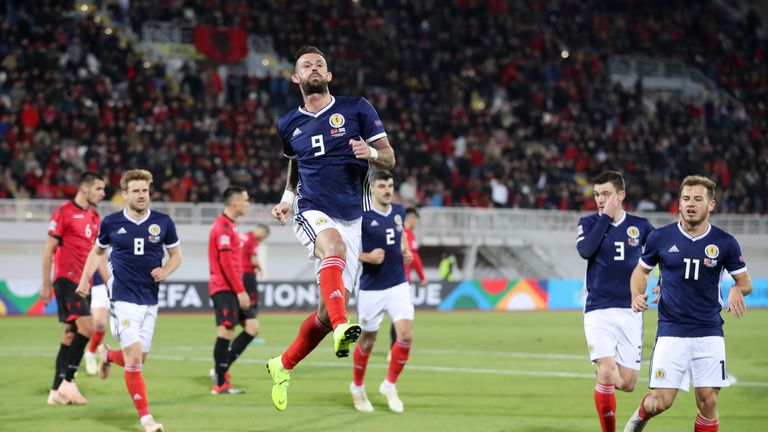Steven Fletcher scored from the penalty spot in his first Scotland appearance for more than two years
