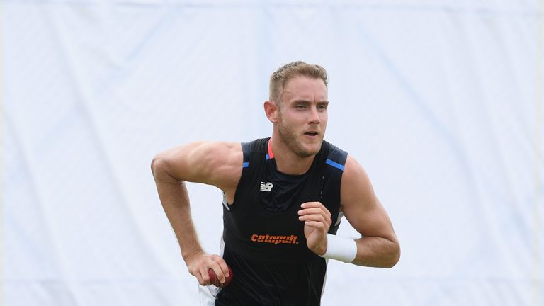 Stuart Broad at nets on November 4, 2018 in Galle, .