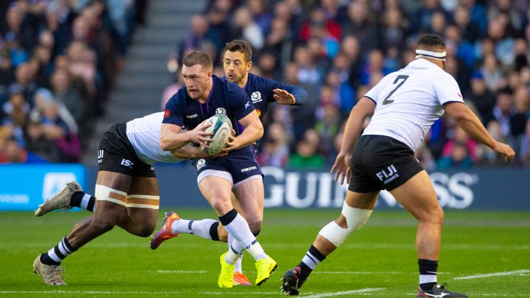 Stuart Hogg is a major attacking threat for Scotland