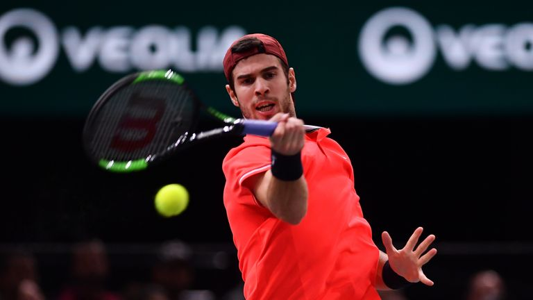 Khachanov took the final to Djokovic with some heavy all-court hitting