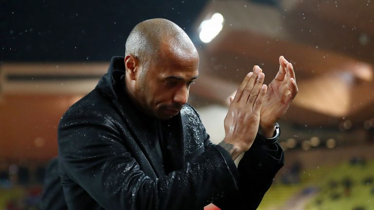 Thierry Henry finally earned his first win as Monaco manager