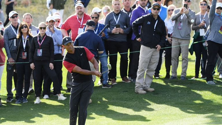 Woods was one down with two to play before levelling with a chip-in for birdie at 17