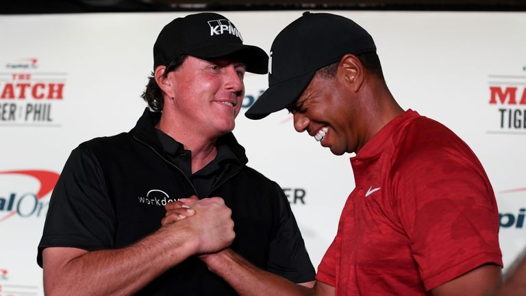 Tiger Woods and Phil Mickelson competed for a huge amount of money in The Match