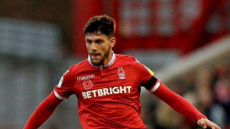 Tobias Figueiredo is suspended for Nottingham Forest