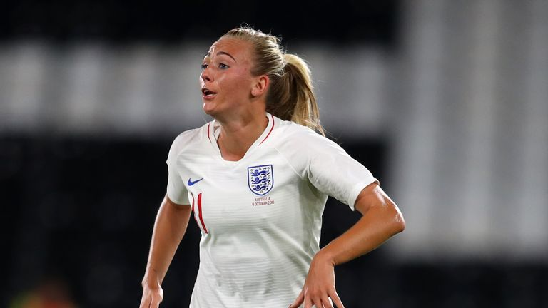 Toni Duggan captained England for the first time
