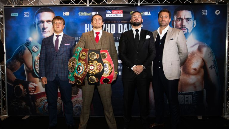 Usyk tells Bellew: A little less conversation, a little more action