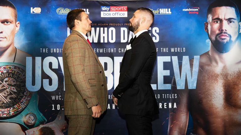 Usyk faces Tony Bellew on Saturday night live on Sky Sports Box Office