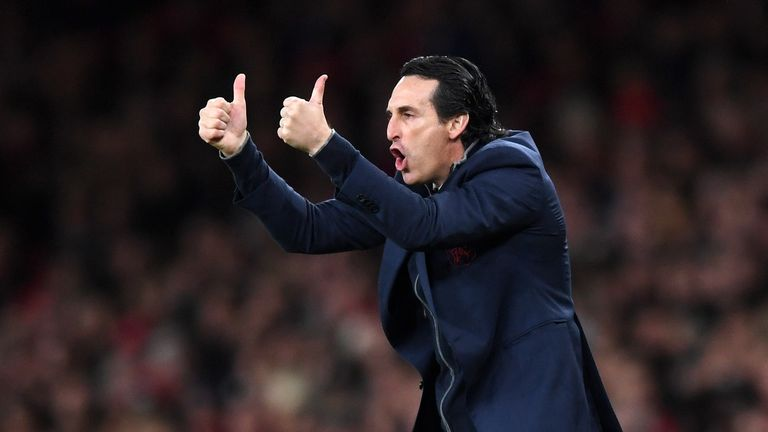 Unai Emery takes charge of his first north London derby on Sunday