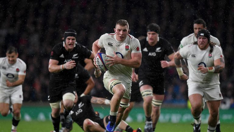 Sam Underhill's try was disallowed during England's defeat to New Zealand.