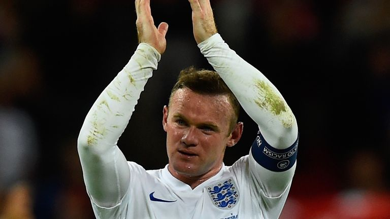 Wayne Rooney of England applauds the fans after the UEFA EURO 2016 Group E qualifying match between England and Switzerland at Wembley Stadium on September 8, 2015 in London, United Kingdom. Wayne Rooney's 50th goal breaks the record for most international goals scored for England. Sir Bobby Charlton held the record previously with 49 goals.