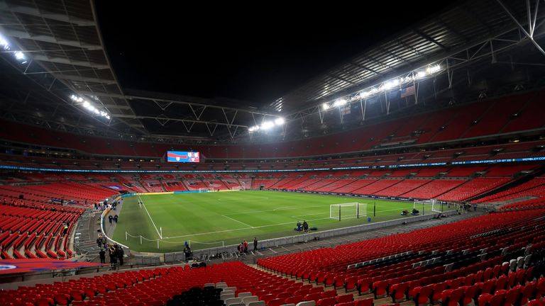 General view of Wembley Stadium before the international friendly between England and USA