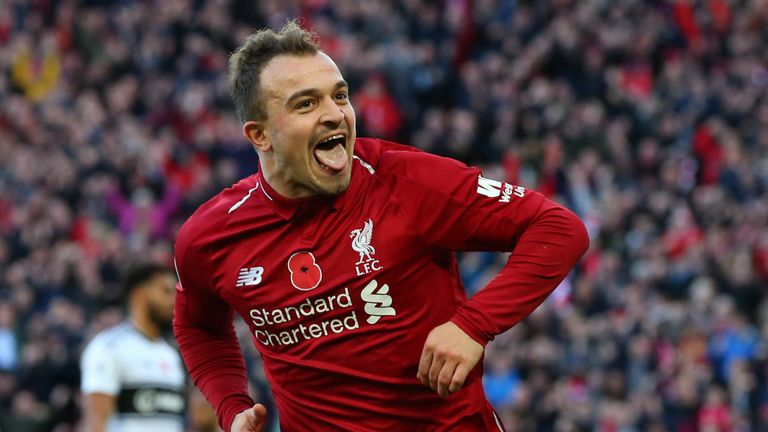 Xherdan Shaqiri sealed the three points for Liverpool