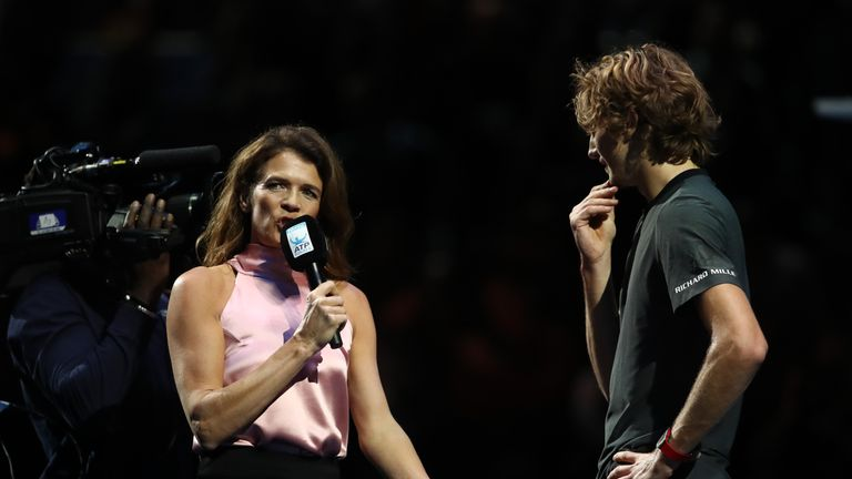 Sky Sports' Annabel Croft called on the crowd to show greater respect towards Zverev after his victory against Roger Federer