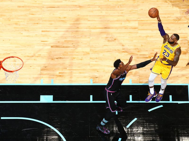 00714a8e2e58 NBA round-up  LeBron James scores season-high 51 points as Lakers beat Heat