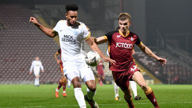 George Miller (right) has scored seven goals for Bradford this season