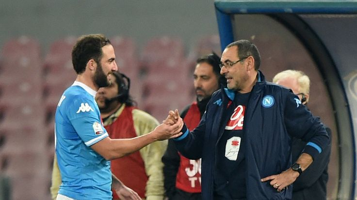 Maurizio Sarri worked with Gonzalo Higuain at Napoli