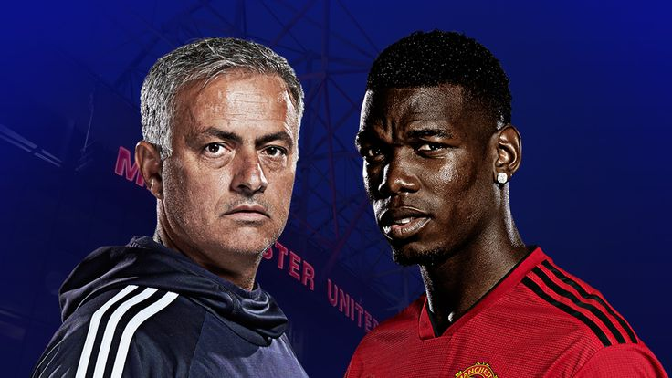 Jose Mourinho and Paul Pogba find themselves at odds at Manchester United