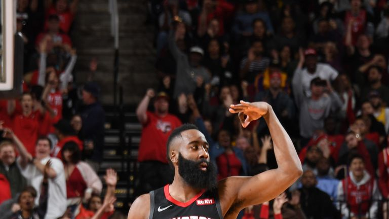 ce3222587f00 James Harden makes NBA history with fourth 50-point triple-double as  Houston Rockets beat Los Angeles Lakers