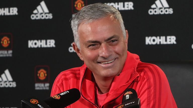 Manager Jose Mourinho of Manchester United speaks during a press conference at Aon Training Complex on November 2, 2018 in Manchester, England.
