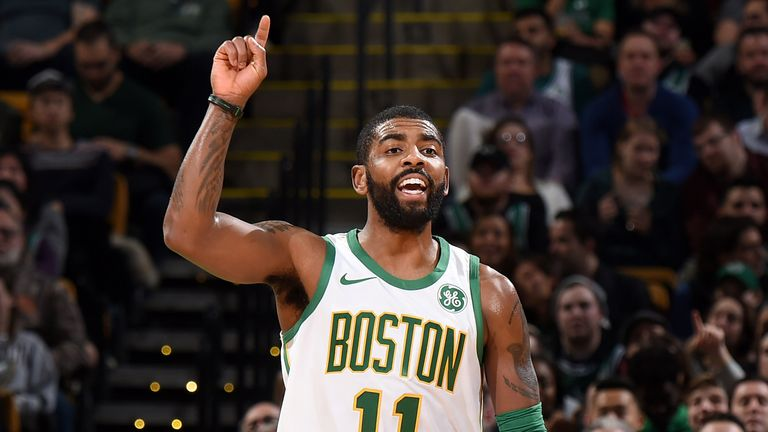 Kyrie Irving scores 22 points as Boston Celtics blow out New York Knicks | NBA News |