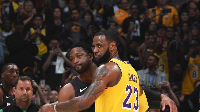 854e124c7be LeBron James wins last duel with Dwyane Wade as Los Angeles Lakers ...