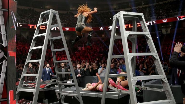 Relive some of the biggest moves from an epic SmackDown Women's Championship TLC match. You can watch repeats on Sky Sports Box Office