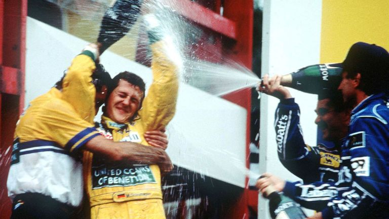 The breakthrough win a year on from his Spa debut. In on-off rain, the 23-year-old Schumacher combined canniness, calm and a little good fortune to change tyres at the right time in a race that could have been team-mate Martin Brundle's.