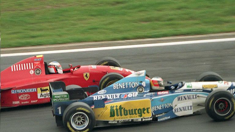 One of Schumacher's greatest wins as he hunted down and passed Ferrari's Jean Alesi in the closing stages of a race which all-but put the seal on his conclusive 1995 title win.