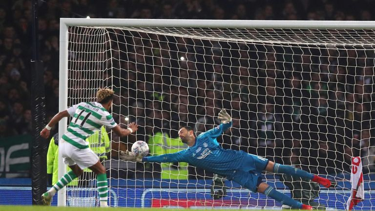 Joe Lewis superbly kept out Scott Sinclair's penalty
