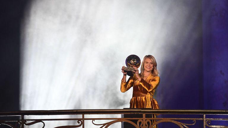 Ada Hegerberg is the first winner of the women's Ballon d'Or