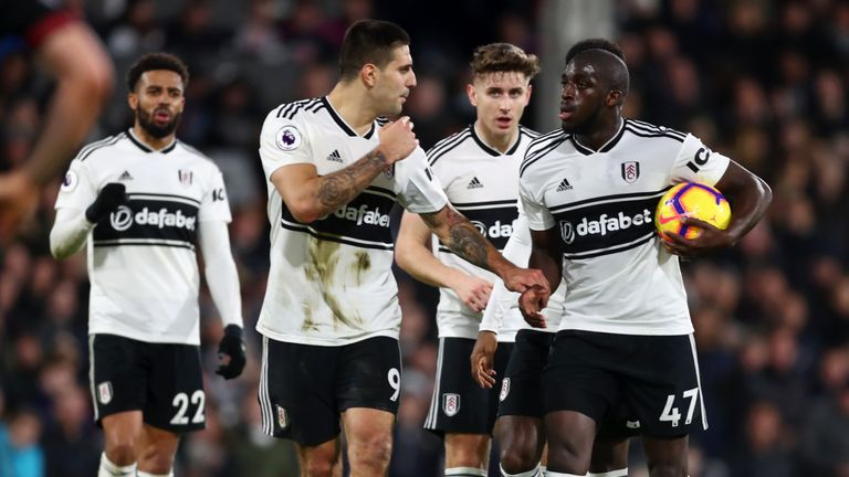 Aleksandar Mitrovic argued with Aboubakar Kamara over who should take a late penalty against Huddersfield