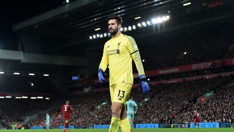 Alisson has more clean sheets than any other goalkeeper this season